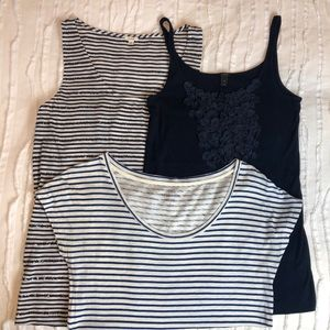 Lot of 3 J. Crew Tanks and Tee